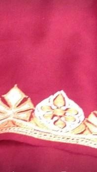 Tila Work Chinnon Saree-PINKISH