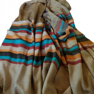 PASHMINA GENTS SHAWL WITH STRIPES