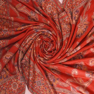 RED ULTRA SOFT MERINO WOOL SHAWL
