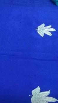 Tila Work Chinnon Saree-BLUE