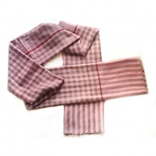 Light Pink Checked Stole [Gents]